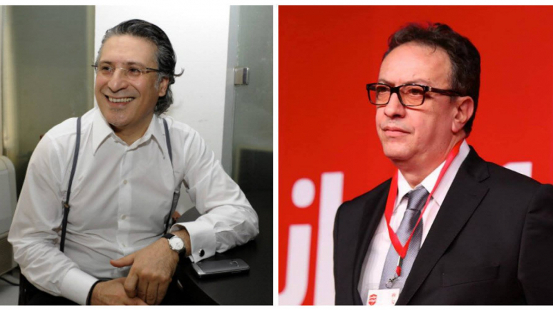 Nabil Karoui et Essebsi junior
