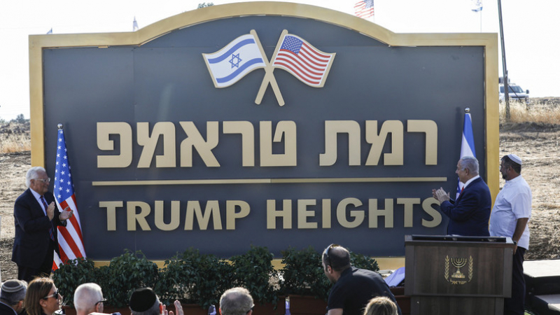 Netanyahou inaugure une colonie portant le nom de Trump