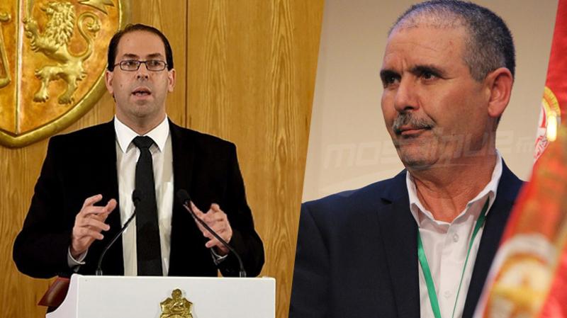 Noureddine Tabboubi, Youssef Chahed