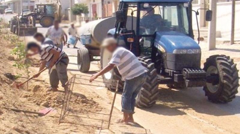 ouvriers des chantiers