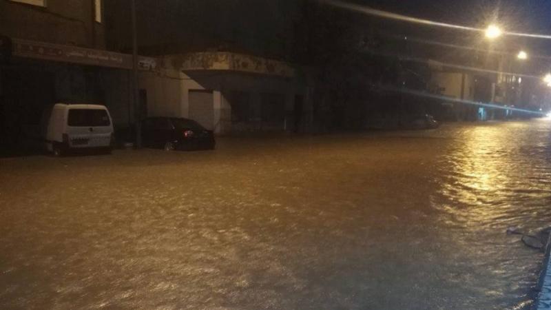 Pluies-Chott Meriem:  voitures bloquées la garde nationale intervient