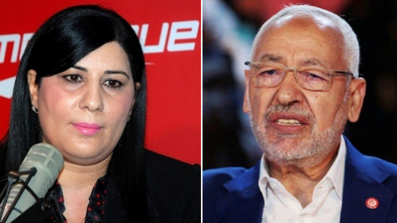 Rached Ghannouchi présente ses condoléances à Abir Moussi