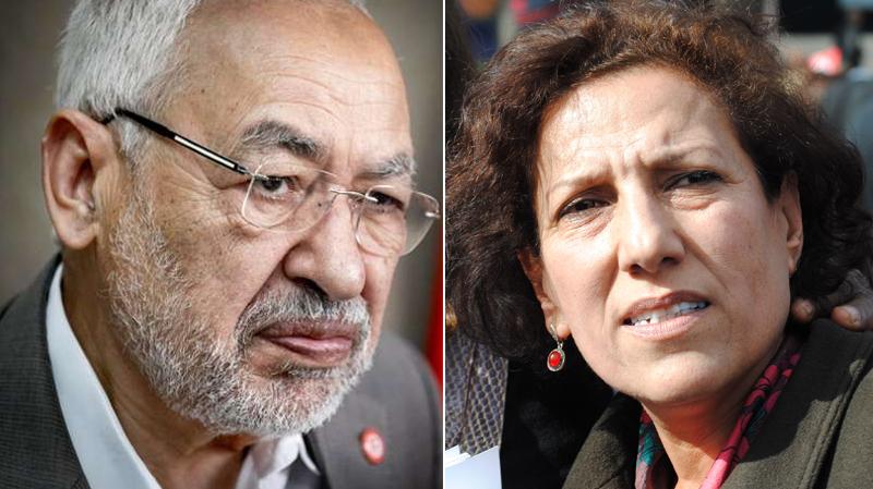 Rached Ghannouchi-Radhia Nasraoui