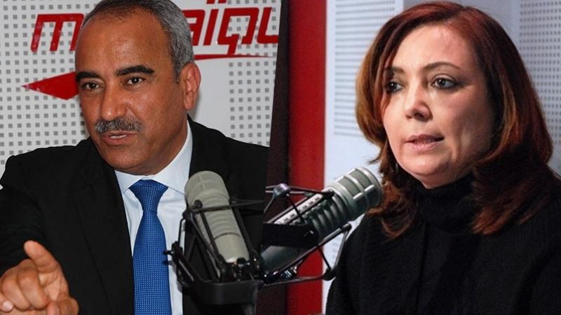 Ridha Chalghoum et Wided Bouchamaoui dans Midi Show