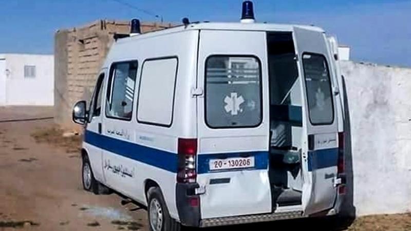 Rjim Maatoug: Une ambulance prend feu avec 4 personnes à son bord