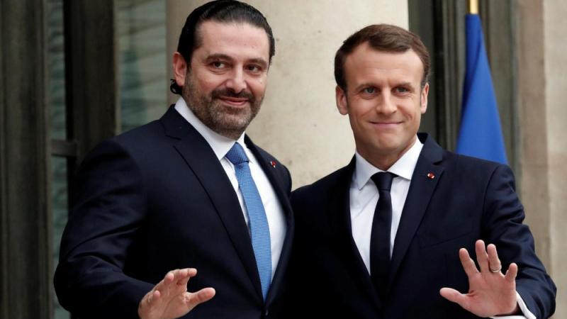 Saad Al Hariri, Emmanuel Macron
