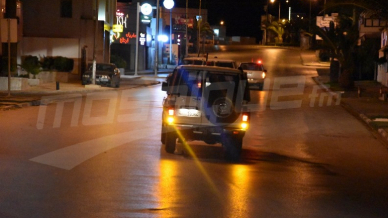 Sousse :32 personnes arrêtées  pour avoir enfreint le couvre -feu