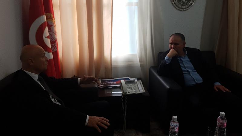 Taboubi reçoit l'ambassadeur de France