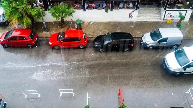Temps nuageux et pluies orageuses