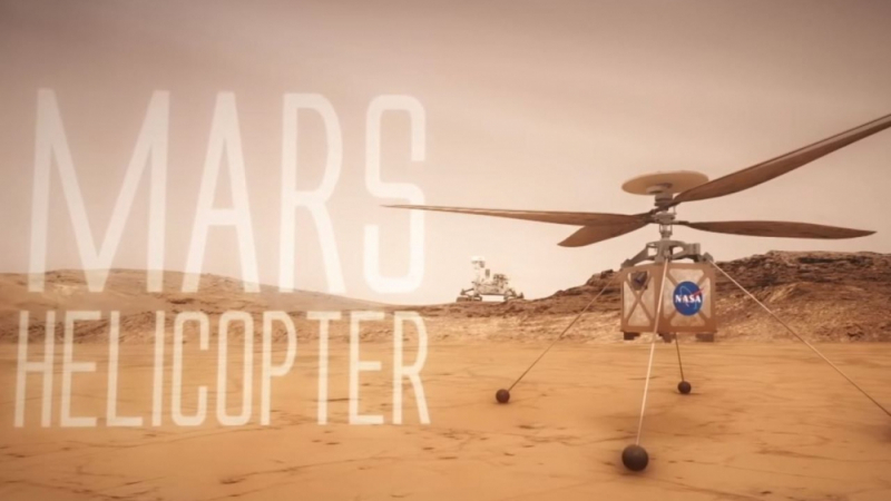 The Mars helicopter