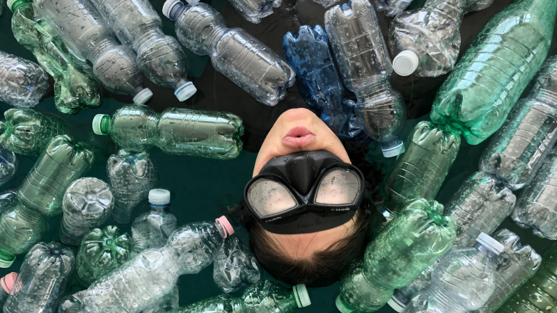 Torrent de plastique
