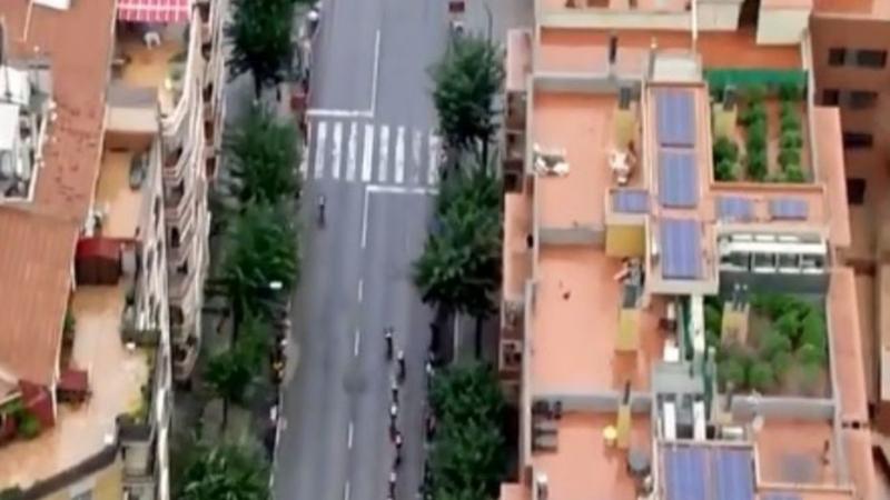 Tour d'Espagne de cyclisme: Découverte d'une plantation de cannabis