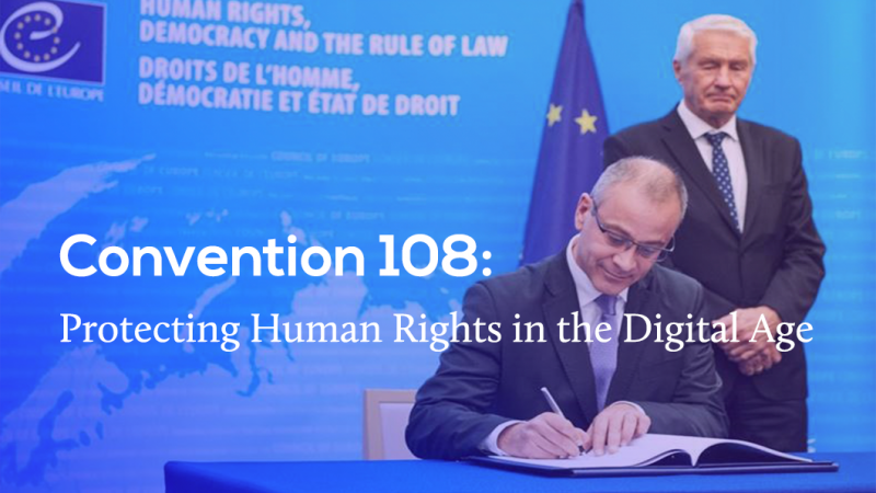 Traitement des données personnelles: signature de la 'convention +108'