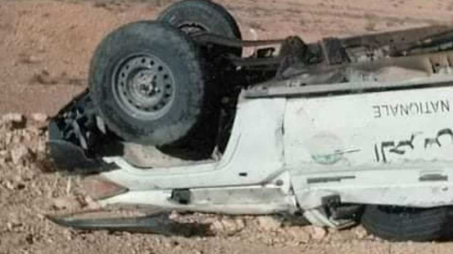 Trois agents de la Garde nationale blessés dans un accident de voiture