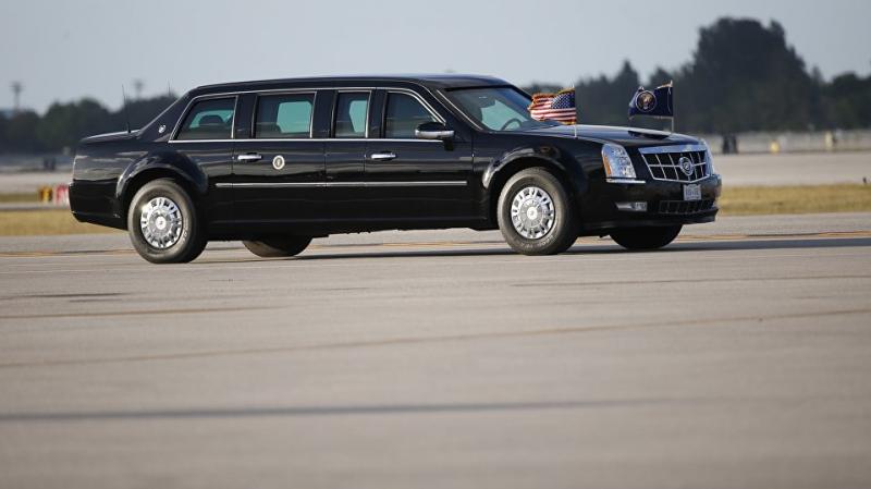 Trump choisit une limousine et 8 véhicules pour un trajet de 230m