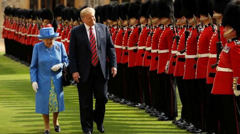 trump et reine Elizabeth 2