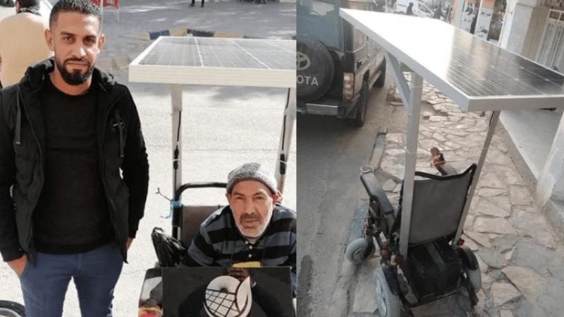 Un jeune ingénieur fabrique un fauteuil roulant à l'énergie solaire