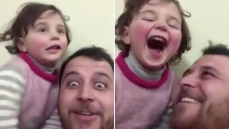 Un père invente un jeu pour que sa fille s'adapte aux sons des bombes