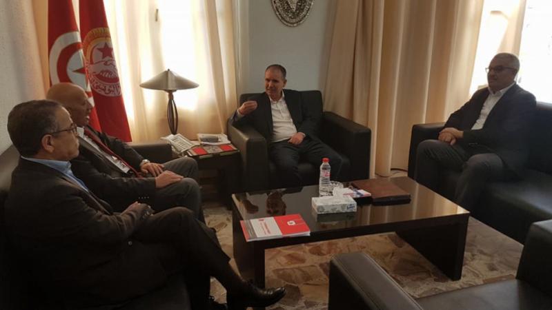 Une délégation du parti 'La Tunisie d'abord' rencontre le SG de l'UGTT