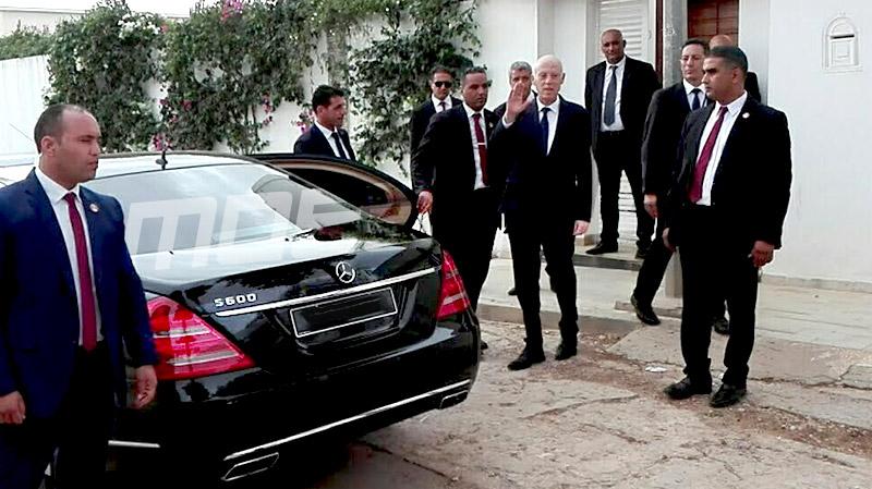 Voici comment Kais Saied a quitté son domicile pour le Parlement