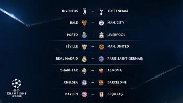 دوري أبطال أوروبا: نتائج قرعة الدور السادس عشر