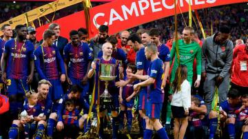 برشلونة يكتسح اشبيلية ويتوج بكأس ملك إسبانيا