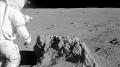 Roche terrestre sur la lune…