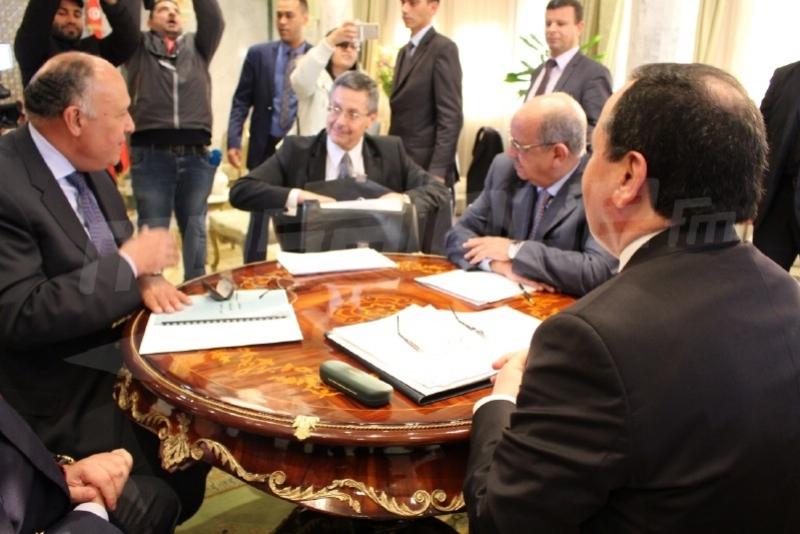 اجتماع وزراء خارجية تونس والجزائر ومصر حول التسوية السياسية الشاملة بليبيا