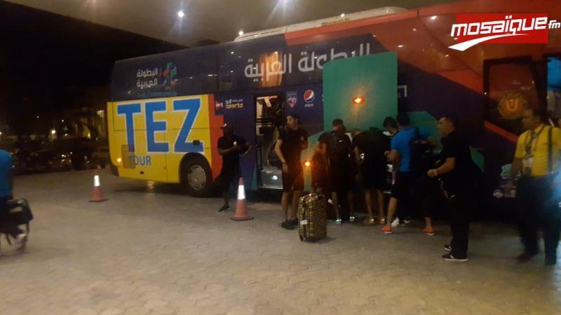 Arrivée de la délégation de l'EST à sa résidence en Alexandrie