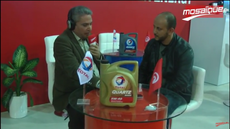 Cadeau de Total au salon international de l'auto à Sousse