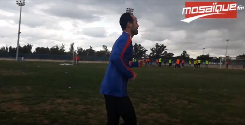 1e séance d'entrainement de Zouhair Dhaoudi avec le CA