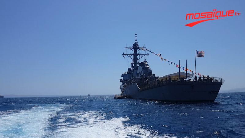 البارجة الحربية الأمريكية ''USS ARLEIGH BURKE'' ترسو بتونس