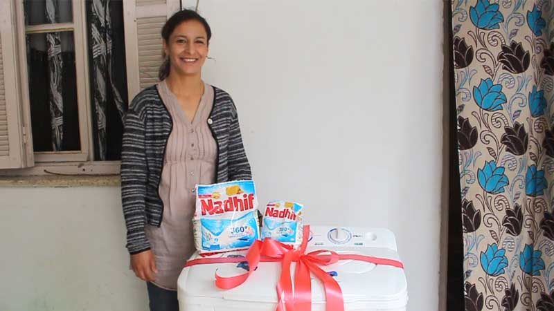 Le nouveau produit de Nadhif 360° vous fait gagner une machine à laver