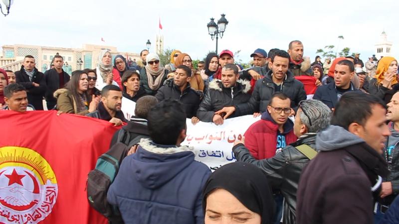 المعلمون النواب في اعتصام مفتوح بالقصبة