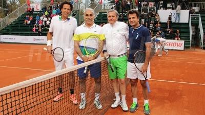 Match d'exhibition : le public emballé au Tennis Club de Tunis