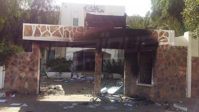 تطاوين : حرق إقليم الحرس الوطني ومنطقة الأمن