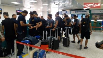 رحلة الترجي من مطار تونس قرطاج الى كينشاسا