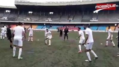 Première séance d'entrainement de l'EN à Kinshasa