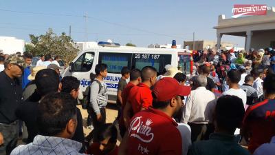بنقردان : تشييع جنازة الشاب محمد علي عبشة