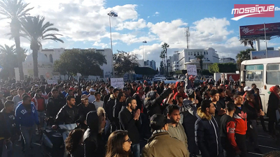 Rassemblement de protestation des supporters de l'ESS
