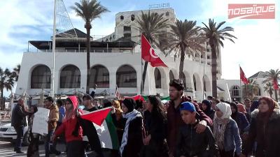 Sousse: une marche de solidarité avec le peuple palestinien
