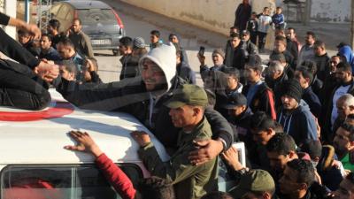 الآلاف يشيعون الشهيد محمد بن بلقاسم الى مثواه الأخير