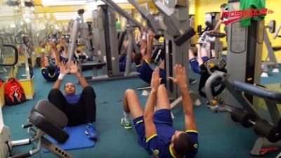 CAN2018: séance d'entraînement de l'équipe nationale de handball