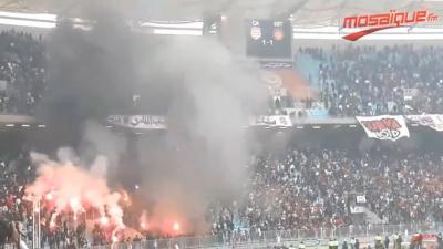 Derby: la joie des supporters du CA après la victoire