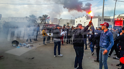 Les supporters de l'USBG protestent