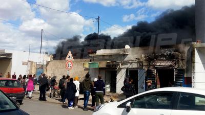 Incendie dans un commerce de vente de carburant à Sfax