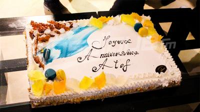 Les joueurs du CA célèbrent l'anniversaire d'Atef Dkhili