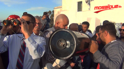 Ambiance de l'observation du croissant lunaire de Ramadan à Sidi Belhssan