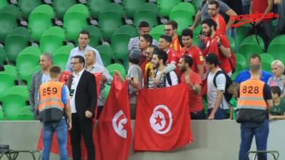 L'ambiance du match entre Tunisie et l'Espagne
