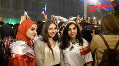 Russie 2018 : Les supporters Iraniens fêtent la victoire de l'Iran face au Maroc
